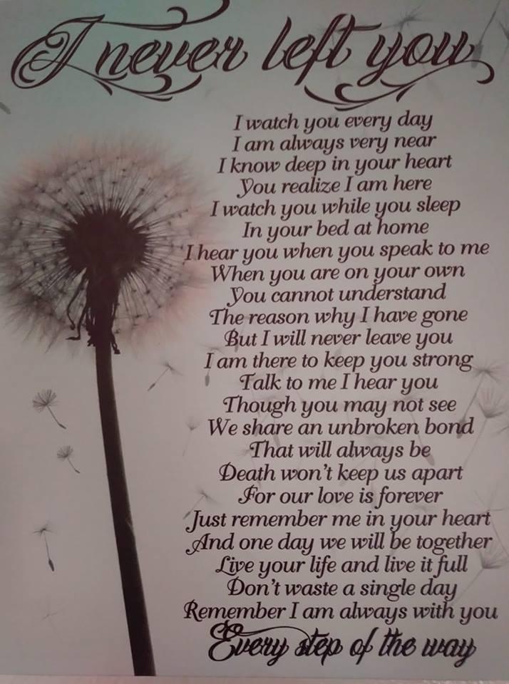 I never left you poem