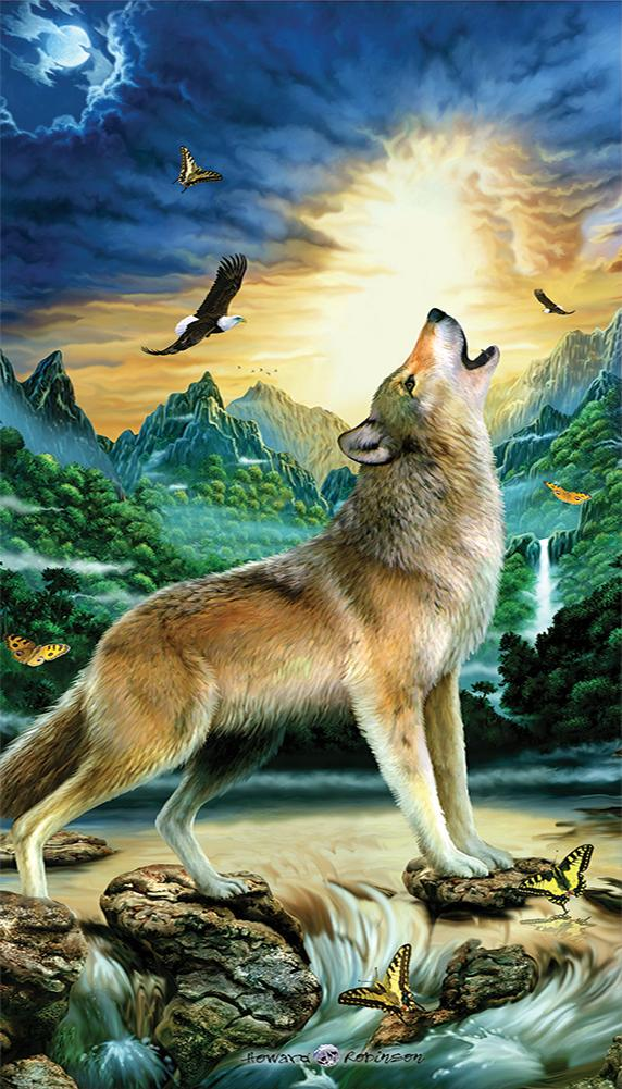 Howling Wolf with Eagle